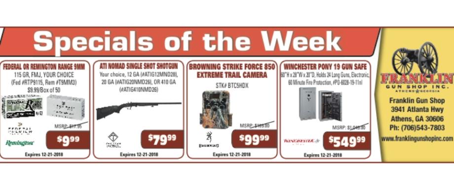 Guns of the Week | Franklin Gun Shop